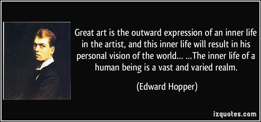 Edward Hopper quote on artistic expression