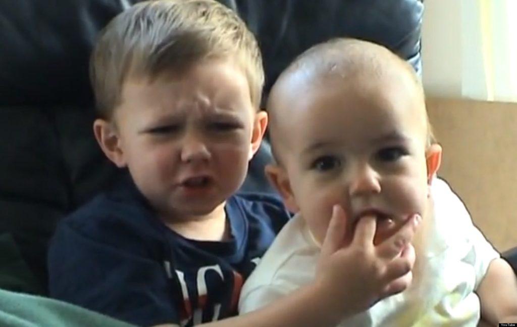 Screenshot of the viral Charlie Bit My Finger Video