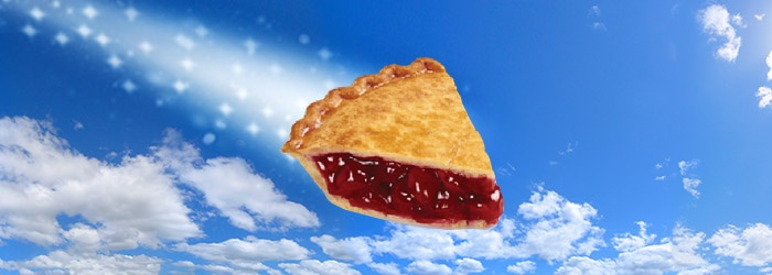Cherry pie slice in the sky