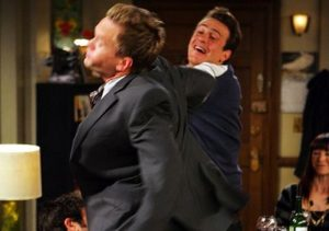 Barney getting slapped on How I Met Your Mother