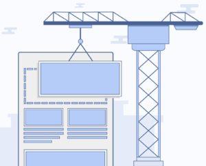 Virtual crane building a website