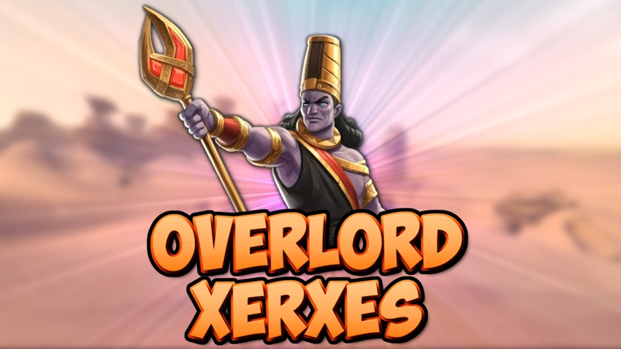 Cartoon of overlord Xerxes