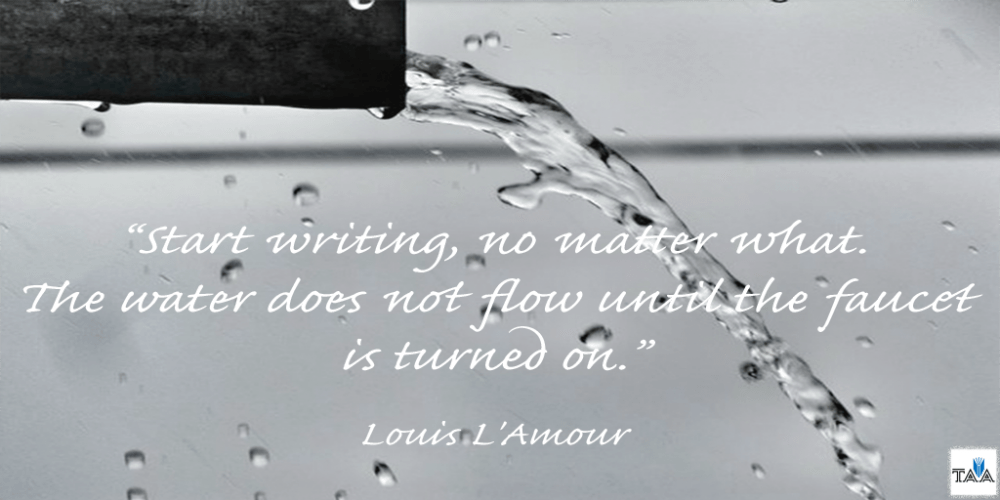 Louis L'Amour Writing quote